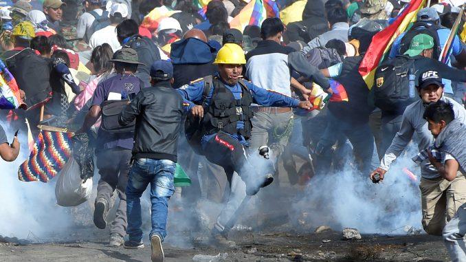 Bolíviai tüntetés